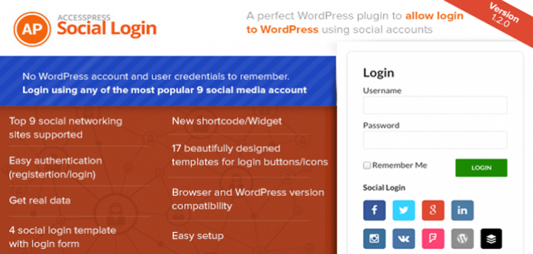 Item cover for download AccessPress Social Login