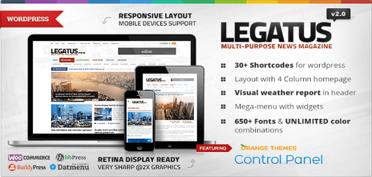 Item cover for download Legatus - Responsive News/Magazine Theme