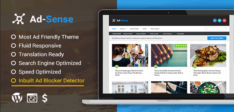 Item cover for download MyThemeShop Ad-Sense WordPress Theme