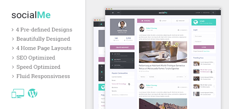 Item cover for download MyThemeShop socialMe WordPress Theme