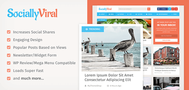 Item cover for download MyThemeShop SociallyViral WordPress Theme