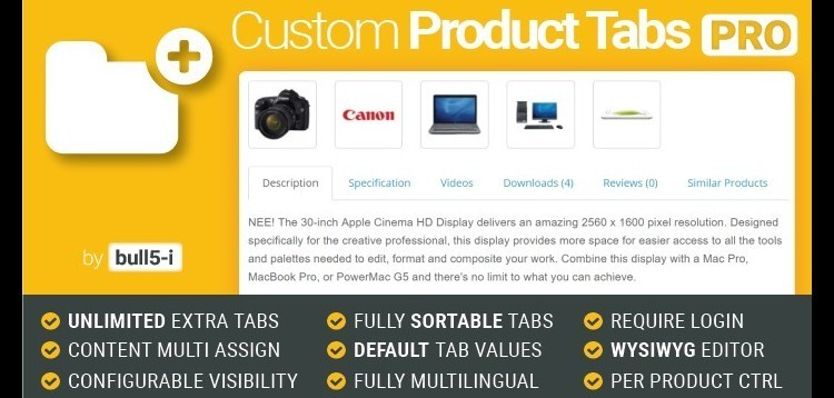 Item cover for download Custom Product Tabs PRO/Unlimited Tabs