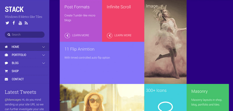 Item cover for download Themify Stack WordPress Theme