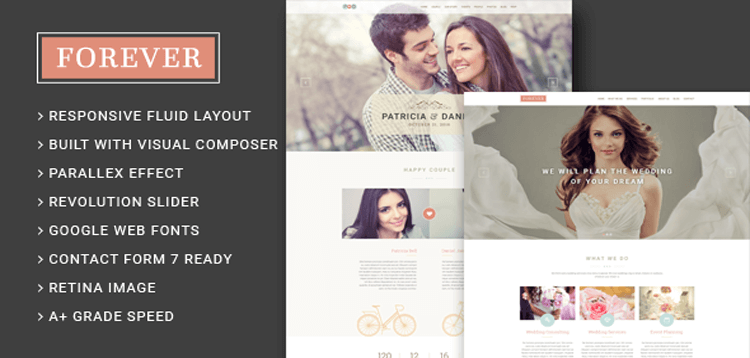 Item cover for download Forever - Wedding Couple  Wedding Planner/ Agency WordPress Theme