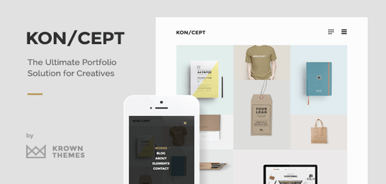 Item cover for download KON/CEPT - A Portfolio Theme for Creative People