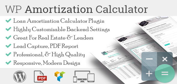 Item cover for download WP Amortization Calculator