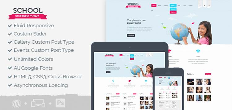 Item cover for download MyThemeShop School WordPress Theme