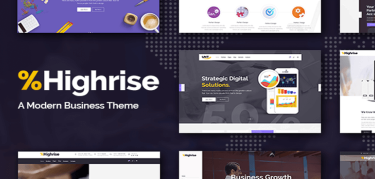 Item cover for download Highrise - A Theme for Modern Businesses, Corporations, and Consulting Companies