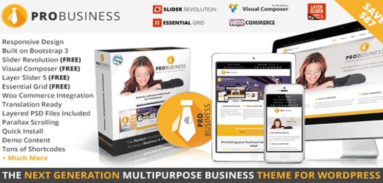 Item cover for download PRO Business - Responsive Multi-Purpose Theme