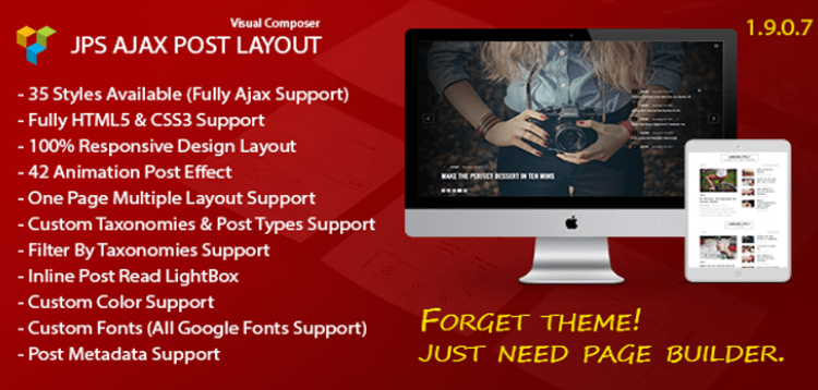 Item cover for download JPS Ajax Post Layout - Addon For Visual Composer