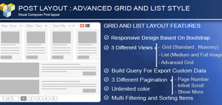 Item cover for download Advance Post GridList with custom filtering for Visual Composer