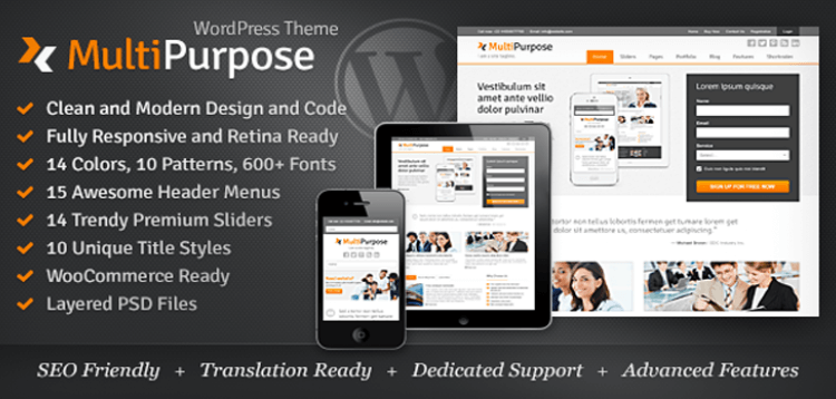 Item cover for download MultiPurpose - Responsive WordPress Theme