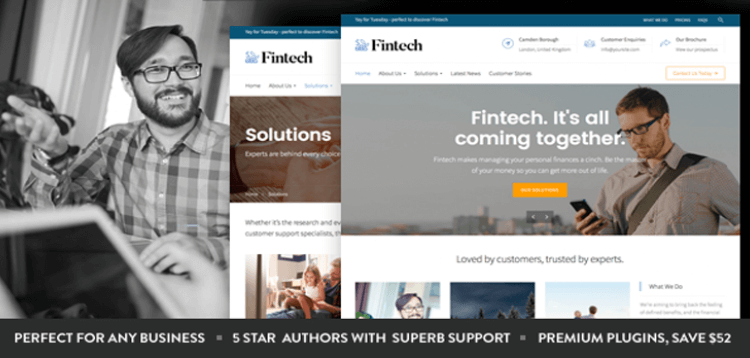 Item cover for download Fintech - Startup WordPress Theme
