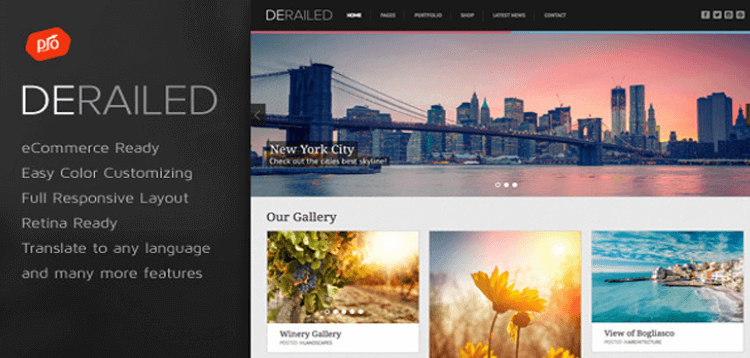 Item cover for download DeRailed - Photography  Portfolio Theme