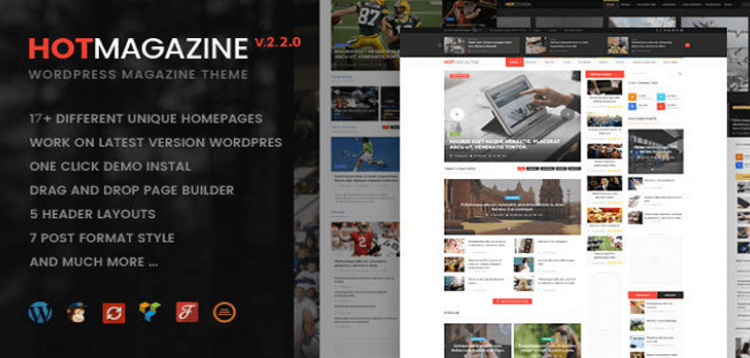 Item cover for download Hotmagazine - News  Magazine WordPress Theme