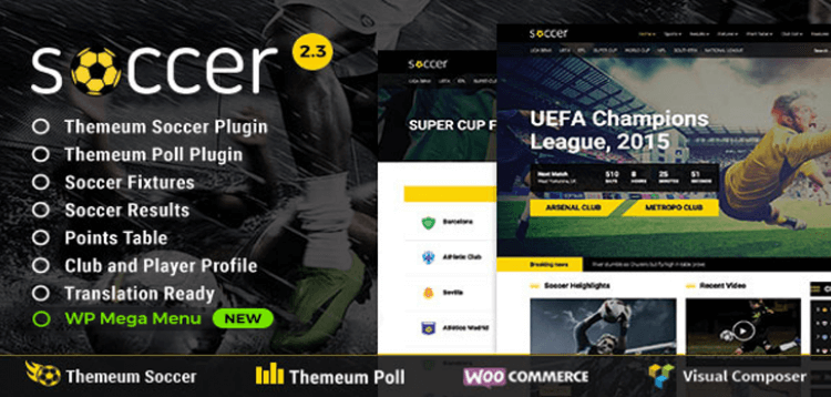 Item cover for download WP Soccer for Sports – Soccer, Football, Sport WordPress Theme