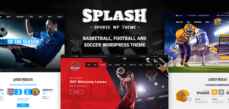 Item cover for download Splash - Sport WordPress Theme for Football, Soccer, Basketball, Baseball, Sport club