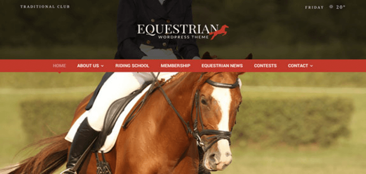 Item cover for download Equestrian - Horses and Stables WordPress Theme