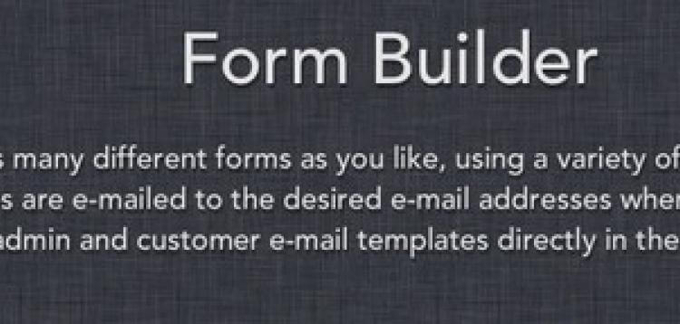 Item cover for download Form Builder OpenCart