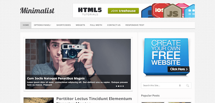 Item cover for download MyThemeShop Minimalist WordPress Theme