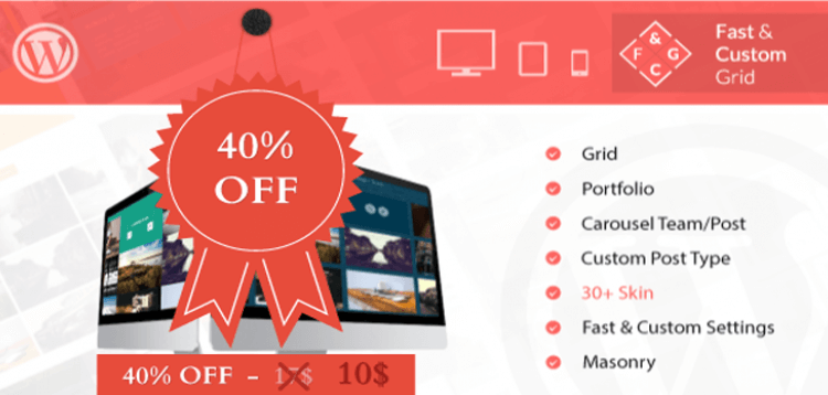 Item cover for download Fast  Custom Grid - Wordpress Plugin