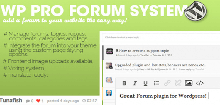 Item cover for download WP Pro Forum System