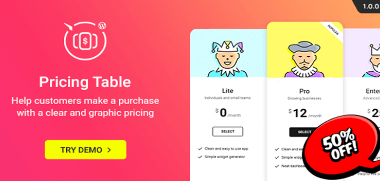 Item cover for download WordPress Pricing Table Plugin