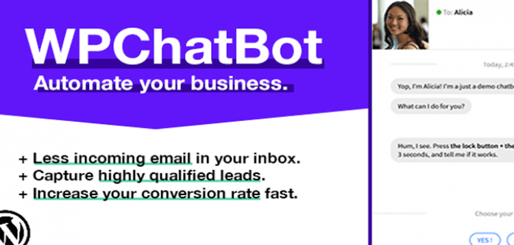 Item cover for download WP Chatbot - Wordpress Chatbot Builder