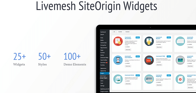 Item cover for download Livemesh SiteOrigin Widgets Pro
