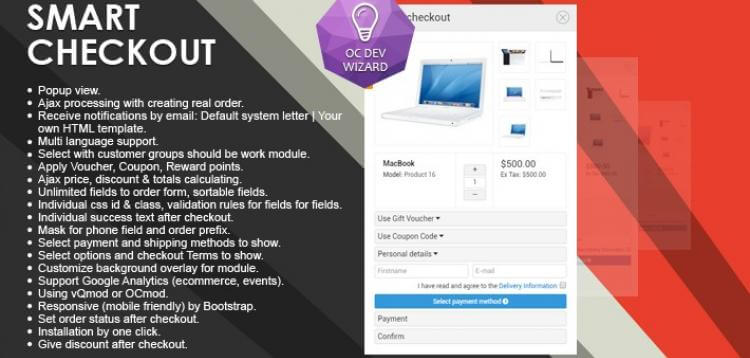 Item cover for download Smart Checkout OpenCart