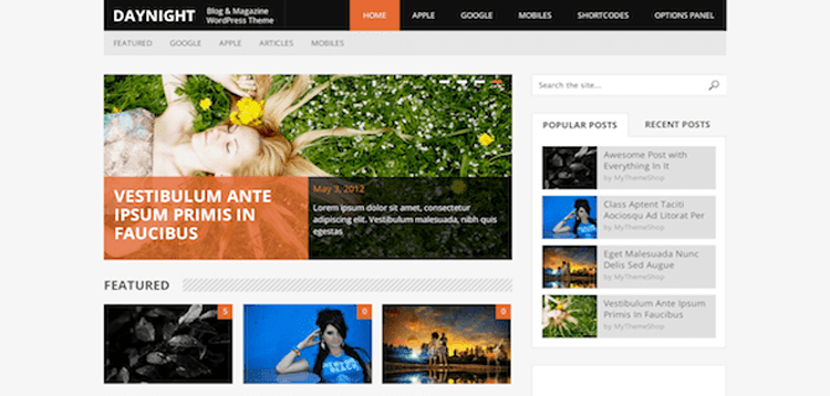 Item cover for download MyThemeShop DayNight WordPress Theme
