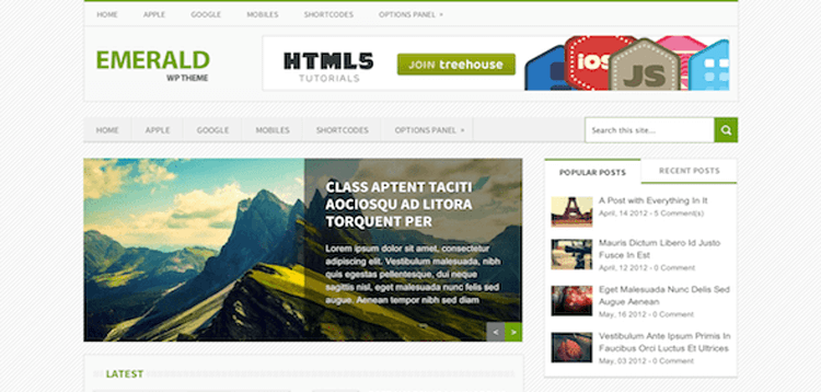 Item cover for download MyThemeShop Emerald WordPress Theme