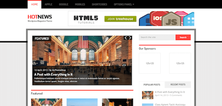 Item cover for download MyThemeShop HotNews WordPress Theme