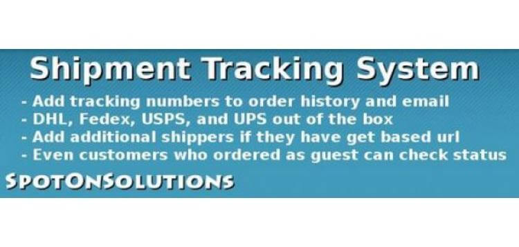 Item cover for download Shipment Tracking System OpenCart