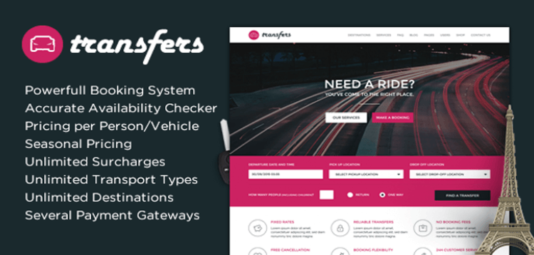 Item cover for download Transfers - Transport and Car Hire WordPress Theme