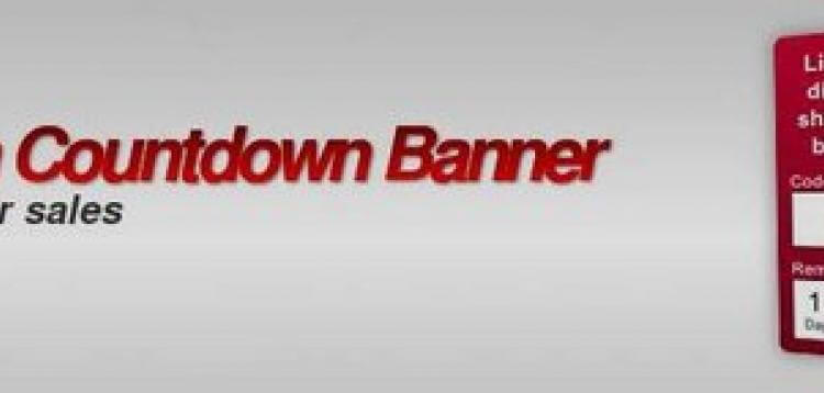 Item cover for download Coupon Countdown Banner