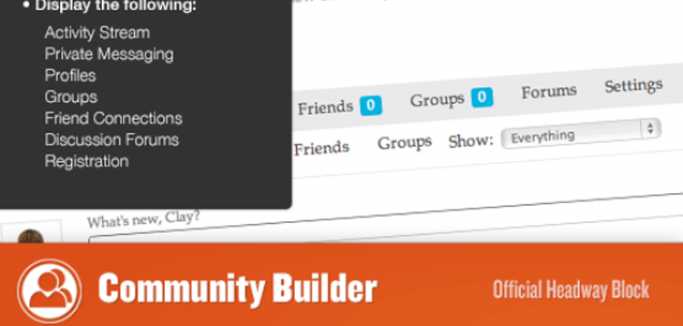 Item cover for download Headway - Community Builder