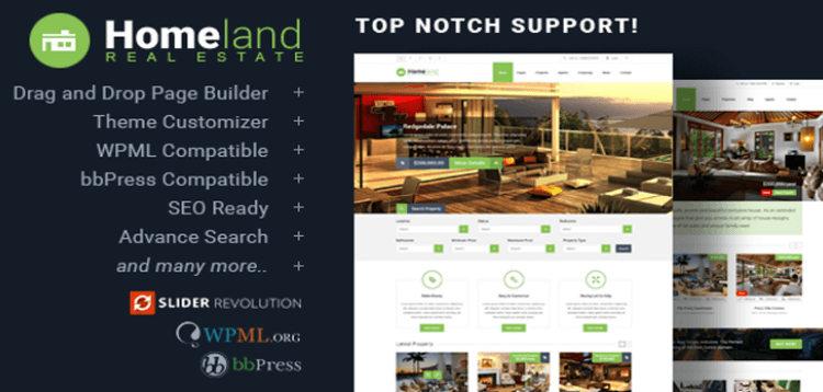 Item cover for download Homeland - Responsive Real Estate Theme for WordPress