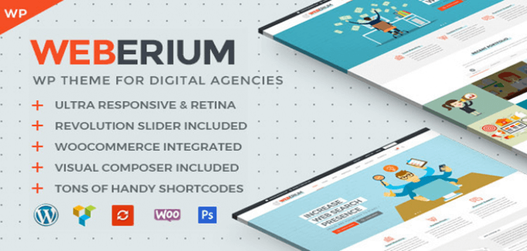 Item cover for download Weberium | Responsive WordPress Theme Tailored for Digital Agencies