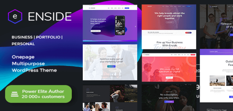 Item cover for download Enside - Multipurpose Onepage WordPress Theme