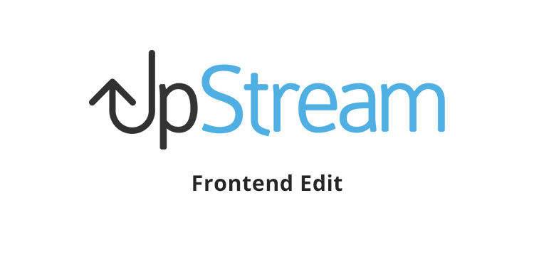 Item cover for download UpStream - Frontend Edit