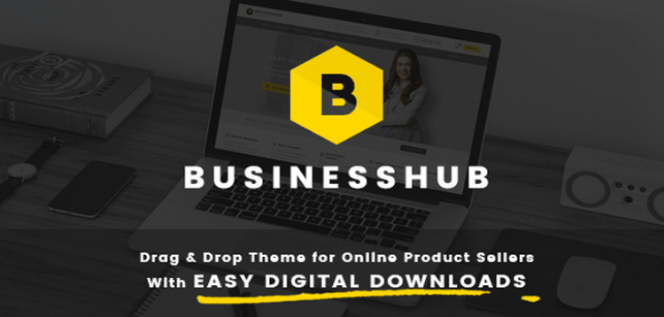 Item cover for download Business Hub | Responsive WordPress Theme For Online Business