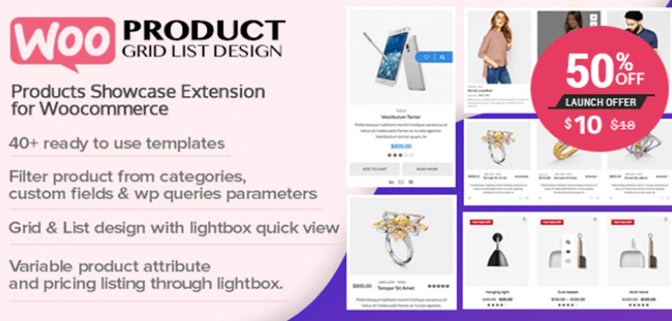 Item cover for download WOO Product Grid/List Design- Responsive Products Showcase Extension for Woocommerce