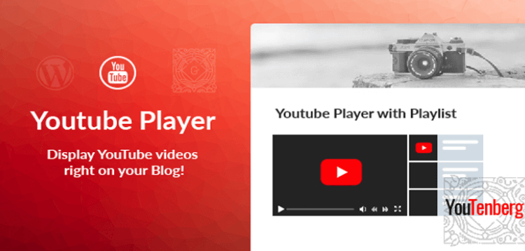 Item cover for download Youtenberg - Gutenberg YouTube Player with Playlist