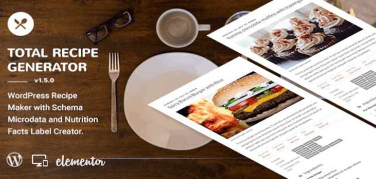 Item cover for download Total Recipe Generator - WordPress Recipe Maker with Schema and Nutrition Facts (Elementor addon)