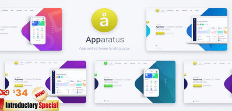 Item cover for download Apparatus | A Multi-Purpose One-Page Portfolio and App Landing Theme