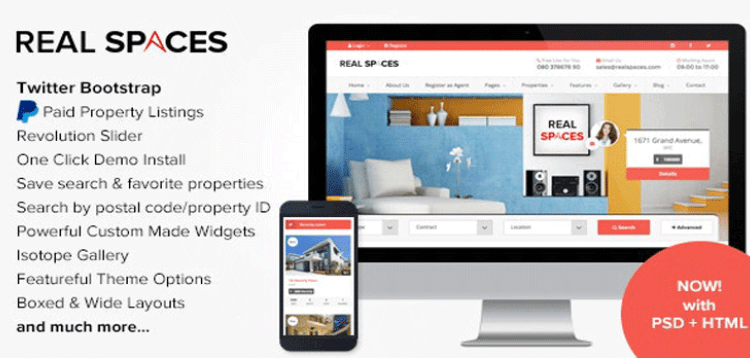 Item cover for download Real Spaces - WordPress Real Estate Theme