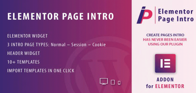 Item cover for download Page Intro for Elementor WordPress Plugin