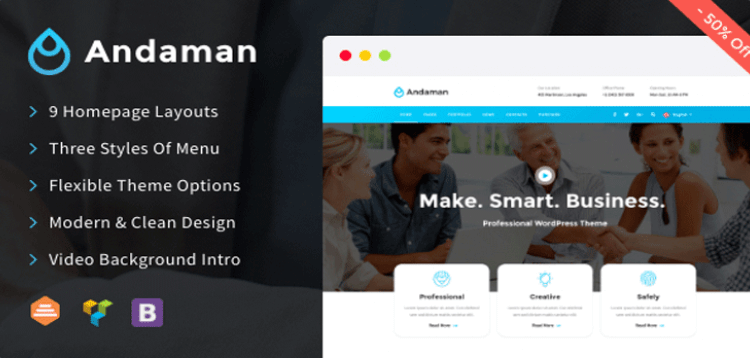 Item cover for download Andaman - Creative  Business WordPress Theme