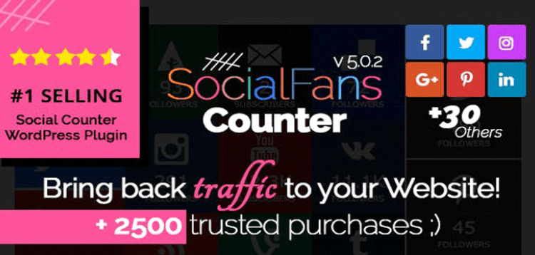 Item cover for download SocialFans - WP Responsive Social Counter Plugin